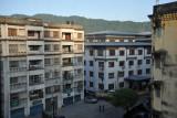 The area around the Lhaki Hotel, Phuentsholin