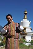 Dennis at the National Memorial Chorten, Thimphu