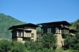 Old houses on the edge of Thimphu