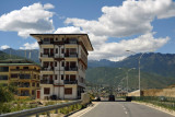 Even modern buildings in Thimphu incorporate traditional architectural details