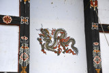 Dragon painted on a house in Lobesa, Bhutan