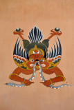 Garuda eating a snake (naga), another painting to protect the home