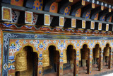 Prayer wheels at the Temple of the Divine Madman