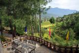The patio bar of the Zangto Pelri Hotel, Bhutan