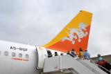 Drukair Airbus A319 at Paro (A5-RGF)