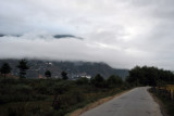 Driving to Paro Airport not feeling confident. Departures require good cloud clearance to visually avoid terrain