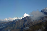 The snow covered peak of Jomolhari, Bhutan