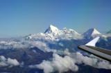 Leaving Bhutan behind - route of flight to Delhi right over Kathmandu