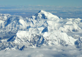 Mt Everest from the south side at FL380