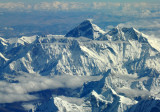 Mt Everest seen from the southwest over Nepal