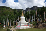 Stupa at the base of the Tiger's Nest, elevation 2600m