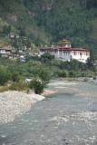 Paro Dzong and the river