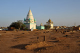 Sufi cemetery on the west side of Omdurman's famous Friday afternoon gatherings of Whirling Dervishes