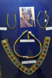 Colorful beaded jewelry of the Nuba Blenga tribe, South Korodofan