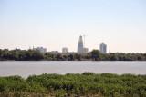 Looking across the Nile from Omdurman to Khartoum's new skyline