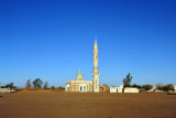 Mosque with an impressive minaret in the middle of nowhere, Sudan