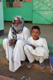 Sudanese boy and man, El Daba