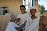 Drinking tea, El Daba