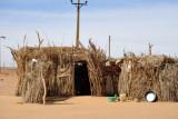 Reed hut on the edge of El Daba