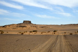 Driving towards Old Dongola's most impressive structure, the Throne Hall