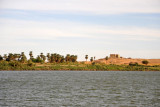 The ruins of Old Dongola from the Nile ferry