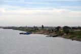 Crossing the Nile via the new bridge at Dongola
