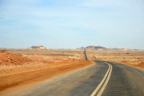 The new northern highway through the Nubian Desert east of the Nile