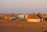 Village of thatched rondavels outside Kassala