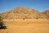 This small area of rocky hills doesn't last long