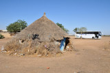 Thatched hut near at the rest stop