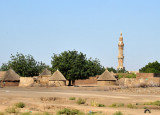 Minaret in a village that is a combination of rondavels and the more typical houses we've seen all over northern Sudan