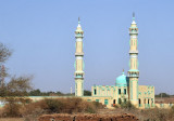 Mosque with two tall minarets, Gezira, Sudan