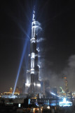 Bright beam illuminates the spire