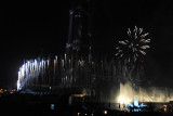 Fireworks with the Dubai Fountain, Burj Khalifa inauguration