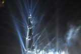 The spot lights are not part of the Burj Khalifa's standard illumination