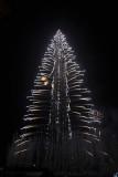 Wow - Burj Khalifa lights up like a Christmas Tree