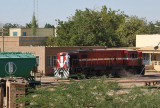 Sudan Railways locomotive in the railway yard of Atbara