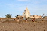 Mosque and cemetery in a West Bank Nubian village