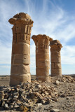 Scant remains of the Temple of Aten at Sesibi