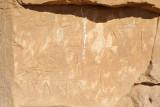 Arabic graffiti carved into the Temple of Sesibi