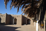 Courtyard of the new Nubian guesthouse at Sesibi