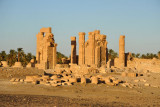 The Temple of Soleb was dedicated to Amun-Re and Nebmaatre, Lord of Nubia