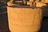 Hieroglyphics carved into a column segment, Temple of Soleb