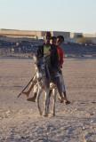 Boys on a donkey, Soleb