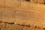 Historic graffiti - A.T. Holroyd 1836 (Notes on a journey to Kordofan in 1836-7), Hetley, Hanbury, Waddington, Mugnaini
