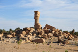The lone standing column of the ancient Egyptian Temple of Seddenga