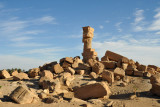 Except for the one standing column, the Temple of Sedeinga is a pile of rocks