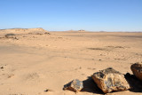 The Nubian Desert lies between the Nile and the Red Sea