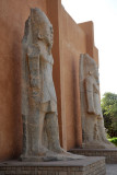 Colossal Kushite statues from Tabo, Sudan National Museum