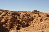 Eroded canyons along the desert road between Karima and El Kurru